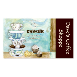 Coffee Shop Cappuccino, Espresso n Latte cards Double-Sided Standard Business Cards (Pack Of 100)