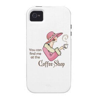 Coffee Shop Vibe iPhone 4 Case