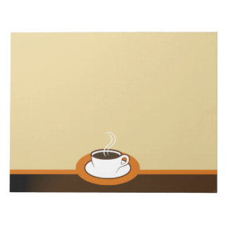 Coffee Shop Coffee Cup Cafe Large Notepads Note Pads