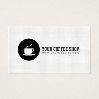 Coffee Shop Coffee Cup Cafe Minimalist Business Card
