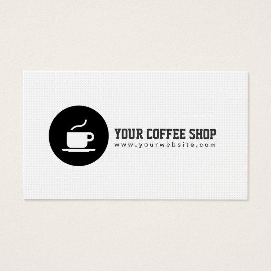 Coffee shop coffee cup cafe minimalist business card zazzle coffee shop coffee cup cafe minimalist business card reheart Choice Image