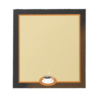 Coffee Shop Coffee Cup Cafe Writing Pads Note Pads Note Pad