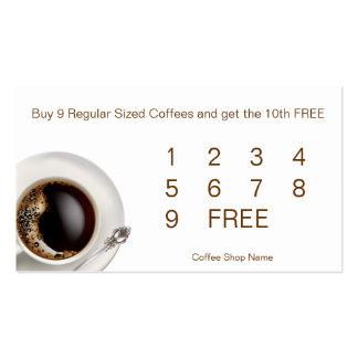 Coffee Shop Customer Loyalty Drink Cards Business Card