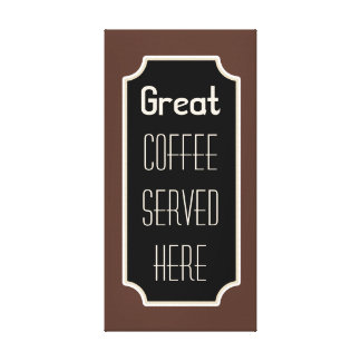 Coffee Shop Diner Sign Kitchen Canvas Wall Decor