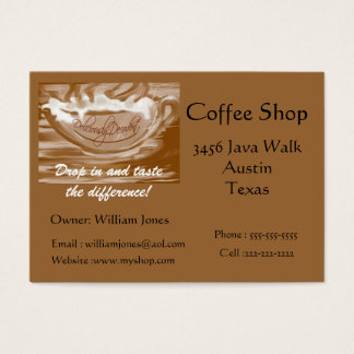 Coffee Shop-Foaming Coffee Cup Business Card
