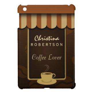 Coffee Shop Front Brown Cafe Lover iPad Mini Cases