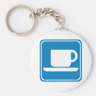 Coffee Shop Highway SIgn Key Chains