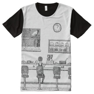 Coffee Shop All-Over Print T-shirt