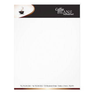 Coffee Shop Letterhead