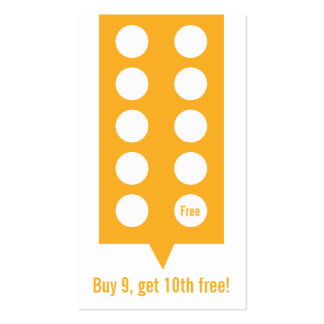 Coffee Shop Loyalty Punch Card Business Card