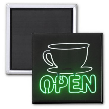 Coffee Themed Coffee Shop Magnet