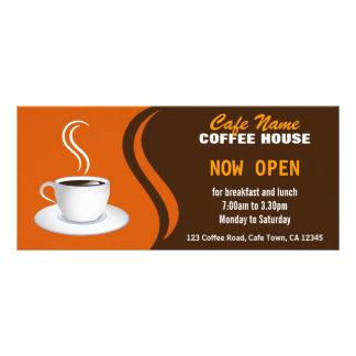 Coffee Shop Menu Brown and Orange Cafe Rack Cards