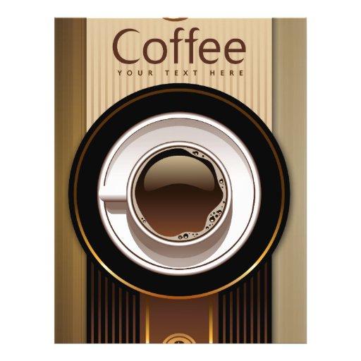 Coffee Shop Menu Flyer Zazzle