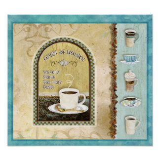 Coffee Shop Open 24 Hours, Audrey Jeanne Roberts Poster