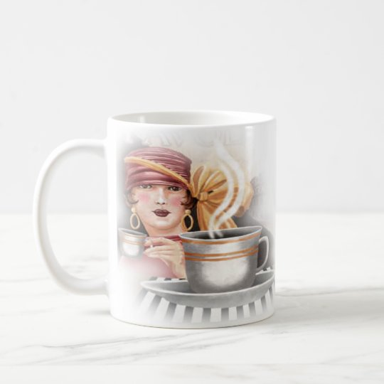 Coffee Shop or Restaurant Retro Coffee Mug Cup