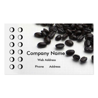 Coffee shop Punch card Business Card