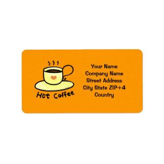 Coffee shop return address address label