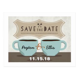 Coffee Shop Save the Date Postcard