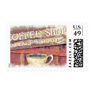 Coffee Shop Sign Postage