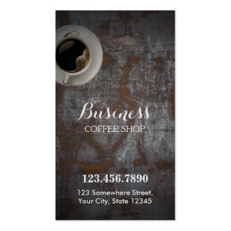 Coffee Shop Vintage Rusty Background Loyalty Punch Business Card