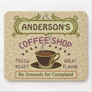 Coffee Shop with Cup Create Your Own Personalized Mouse Pad