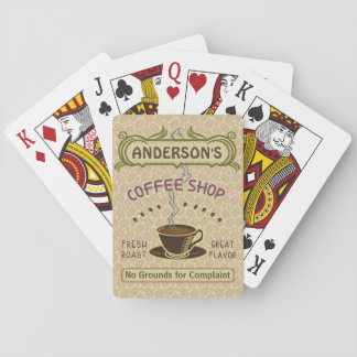 Coffee Shop with Cup Create Your Own Personalized Playing Cards