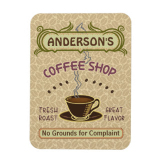 Coffee Shop with Cup Create Your Own Personalized Rectangular Photo Magnet