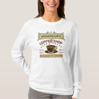 Coffee Shop with Cup Create Your Own Personalized T-Shirt