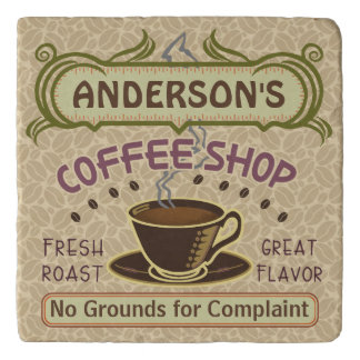 Coffee Shop with Cup Create Your Own Personalized Trivet