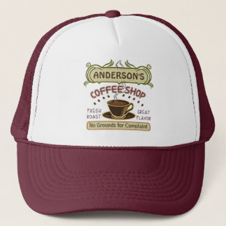 Coffee Shop with Cup Create Your Own Personalized Trucker Hat