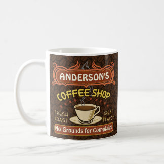 Coffee Shop with Mug Create Your Own Personalized