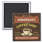 Coffee Shop with Mug Create Your Own Personalized 2 Inch Square Magnet