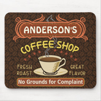 Coffee Shop with Mug Create Your Own Personalized Mouse Pad