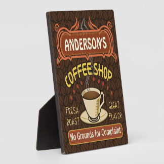 Coffee Shop with Mug Create Your Own Personalized Plaque