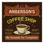 Coffee Shop with Mug Create Your Own Personalized Print