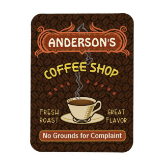 Coffee Shop with Mug Create Your Own Personalized Rectangular Photo Magnet