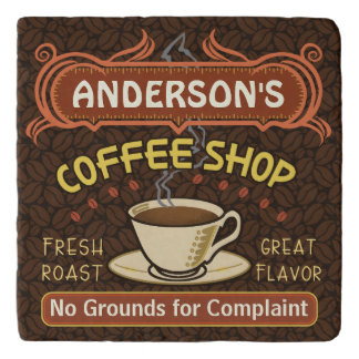 Coffee Shop with Mug Create Your Own Personalized Trivet