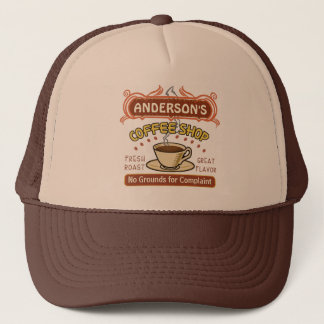 Coffee Shop with Mug Create Your Own Personalized Trucker Hat