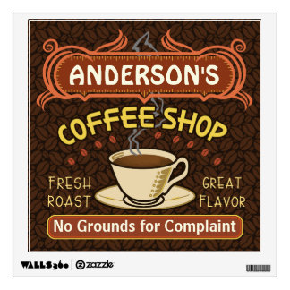 Coffee Shop with Mug Create Your Own Personalized Wall Decals