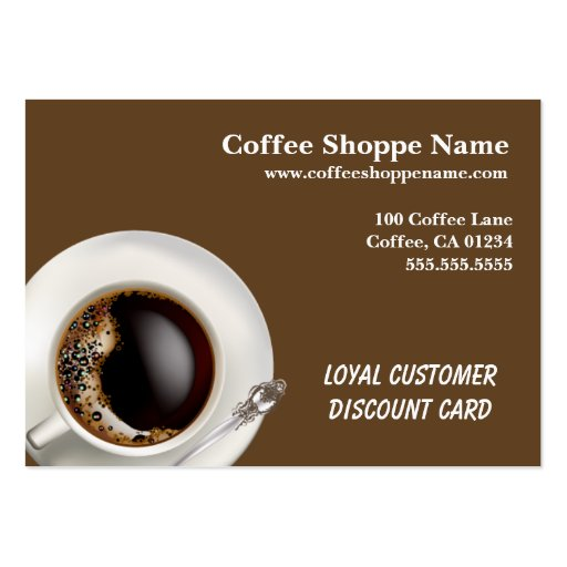 Coffee Shoppe Business and Punch Cards Business Card Template