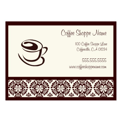 coffee shoppe punch cards business card template zazzle. Black Bedroom Furniture Sets. Home Design Ideas