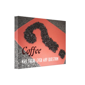 Coffee Sign with Coffee Beans Canvas Print