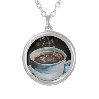 Coffee Silver Plated Necklace
