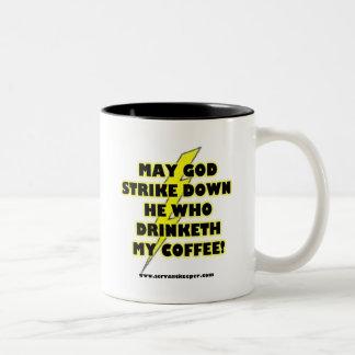 COFFEE SINS Two-Tone COFFEE MUG