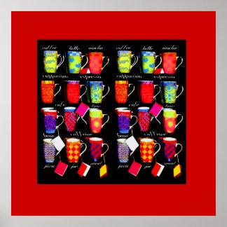 Coffee Slang Mug Art poster