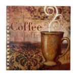 Coffee Small Square Tile