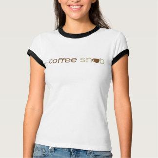 Coffee Snob Ladies Ringer T-Shirt