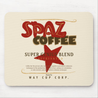COFFEE - SPAZ COFFEE - SUPER GENIUS BLEND MOUSE PAD