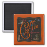 Coffee Spice 2 Inch Square Magnet