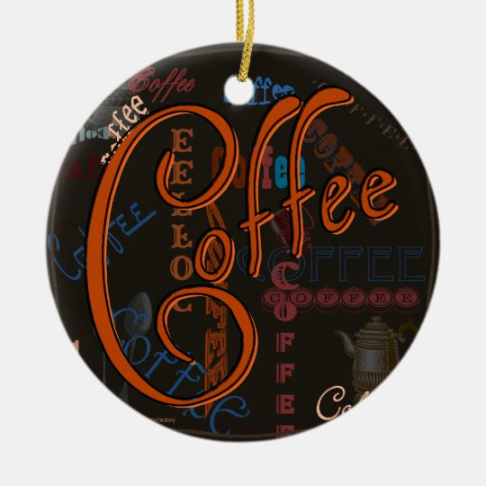 Coffee Spice Ceramic Ornament